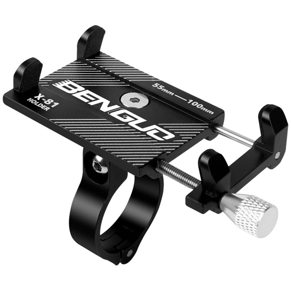 New <font><b>Bike</b></font> <font><b>Phone</b></font> <font><b>Holder</b></font> Aluminum Adjustable Pull Button Anti-shock <font><b>Phone</b></font> <font><b>Holder</b></font> Bicycle <font><b>Phone</b></font> Mount Bracket <font><b>Holder</b></font> Clip image