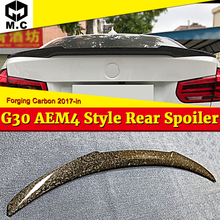 G30 Tail Wing Trunk Spoiler Forging Carbon For BMW 5 series 520i 530i 535i 540i 540iXD M4 style rear Diffuser wings spoiler 17+ g30 spoiler rear trunk wing tail m4 style forging carbon for bmw 520i 530i 530d 540i 550i rear trunk lip spoiler car wing 2017