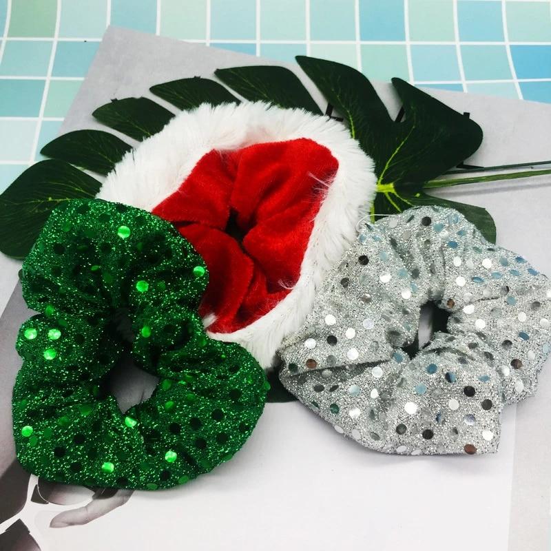 Christmas Hair Tie Ponytail Holder Women Girls Hair Scrunchies Hair Accessories