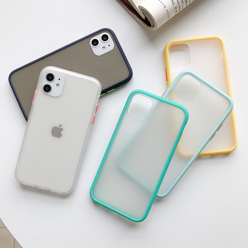 Transparent Silicone Matte Clear Back Cover Bumper Phone Case For iPhone Models