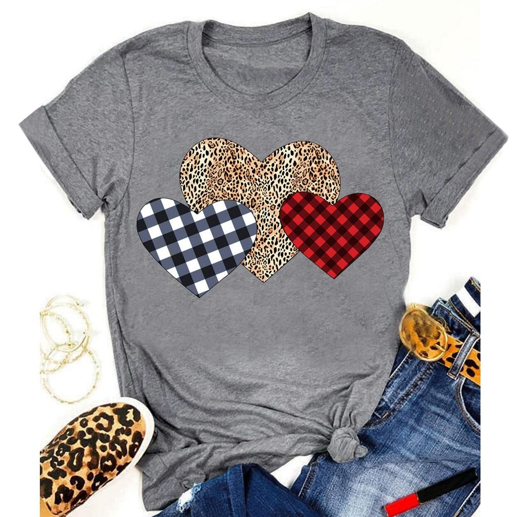 Roupas femininas senhora t impressão gráfica amor coração doce valentine bonito 90s estilo moda topos feminino t camisa dropshipping