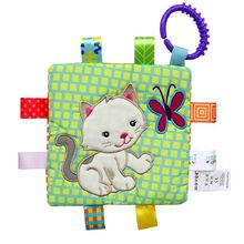 Soft Soothing Towel  Colorful Label TowelS  Newborn Baby  Comfort Toy