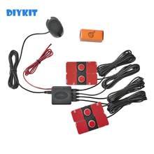 DIYKIT – capteur de stationnement Intelligent pour voiture, Radar d'aide au stationnement, capteurs plats de 14mm, son de Radar de recul, Buzzer d'alarme