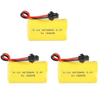 2.4V 700mah AA NI-CD battery pack for Remote Control Car Electric Toys Tanks Trains Robot Boat Gun toys parts 2.4V NICD battery image