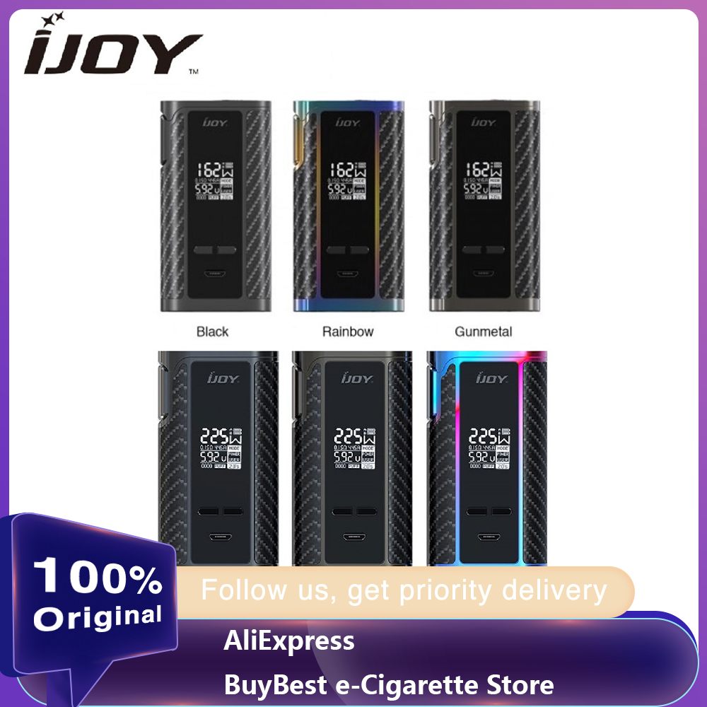 100% Original 162W IJOY Captain 1865 TC Box MOD Vs Ijoy Captain PD1865 Box Mod Powered By Dual 18650 Battery E-cigs Vaping Mod