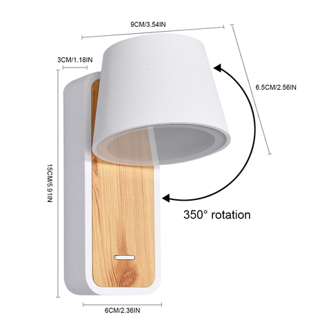interruptor parede luminarias para cabeceira escada corredor leitura