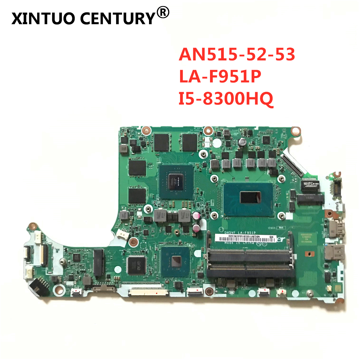 DH5VF LA-F951P For ACER Nitro AN515-52 Laptop motherboard NB.Q3L11.001 NBQ3L11001 With SR3Z0 I5-8300HQ CPU <font><b>GTX1050Ti</b></font> <font><b>4GB</b></font> image