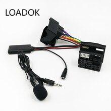 150CM samochodów Audio20 50 zmieniarka CD wejście AUX mikrofon Bluetooth kabel Adapter do wiązki kabli dla Mercedes Benz Audio20 50 Adapter
