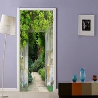Hd beautiful landscape door paste cloth, suitable for living room, bedroom, paste decorative waterproof fresco decals