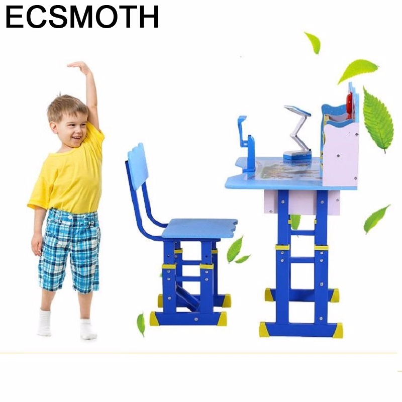 Tavolino Bambini Baby Y Silla Children And Chair Toddler De Estudo Desk Adjustable Mesa Infantil Kinder Study Table For Kids
