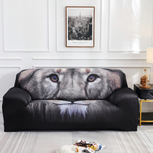Slipcover For Living Room Bedroom Lion Print Furniture Stretch Couch Arm Cushion Cover Spandex Printed Polyester Sofa Cover D30 stretch couch slipcover brown polyester rib knit fabric