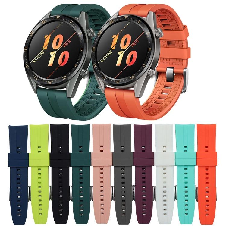 22mm banda de reloj para el Huawei watch GT 2 42mm 46mm Correa samsung galaxy Watch 46mm de S3 frontera amazfit gts Correa pulsera N09