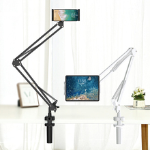 For 4 to 12.9 inch Tablet & Phone Mount Lazy Holder Adjustable Long Arm Clamp for iPad mini 1/2/3/4/5, iPad Air 1/2, iPad Pro 3port usb eu plug ac wall charger for ipad air 2 pro 9 7 10 5 ipad mini 4 3 2 1 tablet 2 4a fast travel chargeur w led display