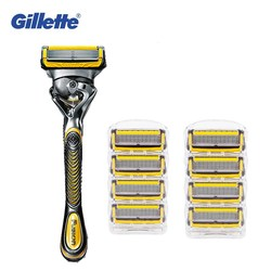 Съемные бритвенные лезвия для мужчин Gillette Fusion ProShield машина для бритья + 9 бритвенные лезвия FlexBall Fusion картридж