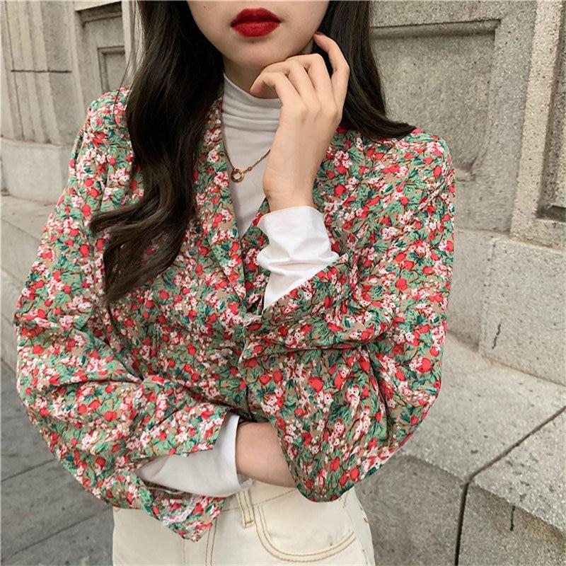 Alien Kitty Brief Stylish Chiffon Women All-Match Retro Hot 2020 Sweet Chic V-Neck Full-Sleeved Blouses Elegant Gentle Shirts