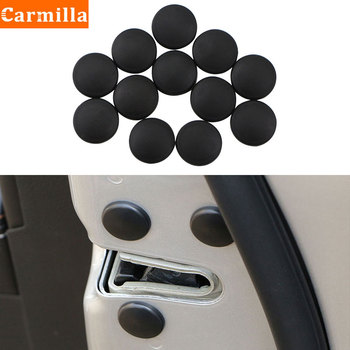12Pcs/Lot Car Door Lock Screw Protector Stickers Cover for Toyota C-HR 2016 2017 Camry 2017 2018 Prado 2010-2018 Corolla image