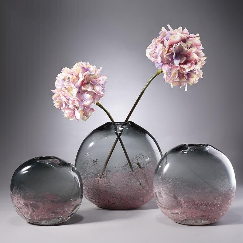 Nordique créatif verre Vase décor à la maison artisanat hydroponique plante fleur Pot planteur séché fleur bouteille conteneur ornement artisanat - 3
