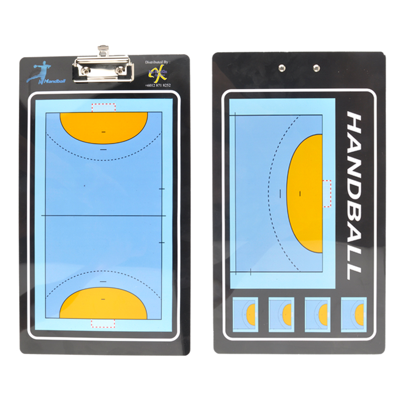 Straight Handball Training Tactical Board Portable Handball Coach Board Foldable Game Training Magnet Eraser 2 Sides Clipboard