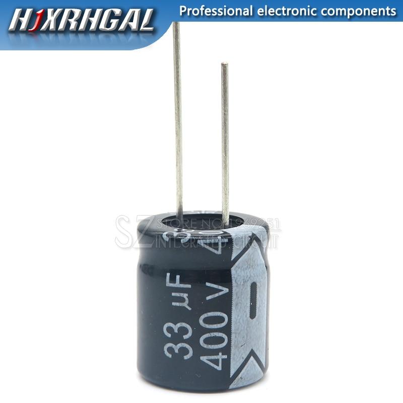 1 шт. 400V33UF 16*22 мм 33 мкФ 400V 16*22 электролитический конденсатор с алюминиевой крышкой