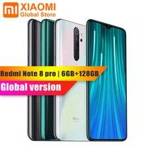 "Global Versie Xiaomi Redmi Note 8 Pro 6Gb Ram 64Gb Rom Nfc Mobiele Telefoon Helio G90T 4500Mah batterij 64MP Camera 6.5 ""Smartphone"