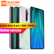 "Global Version Xiaomi Redmiหมายเหตุ 8 Pro 6GB RAM 64GB ROMโทรศัพท์มือถือNFC Helio G90T 4500mAhแบตเตอรี่ 64MPกล้อง 6.5 ""สมาร์ทโฟน"