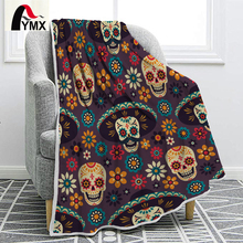FYMX Modern Stylish Blanket Skull Pattern Trendy Luxurious And Romantic Throw Blanket Bedding Soft Warm On The Bed Sofa trendy skull pattern and color block design satchel for women