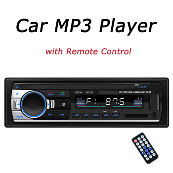Car Radio Stereo Player Digital Bluetooth Car MP3 Player 60Wx4 FM Radio Audio HD Music Mp3 USB/SD/AUX Input With Remote Control image