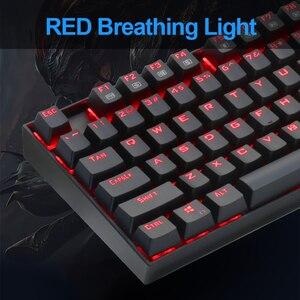 Image 5 - Redragon Mitra K551 USB لوحة مفاتيح الألعاب الميكانيكية التبديل الأزرق لتقوم بها بنفسك 104 مفتاح الخلفية ألعاب الكمبيوتر الروسية أو ملصقا الإسبانية