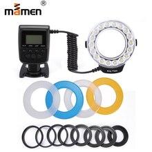 цена на MAMEN 5-15cm Macro LED Ring Flash Light Studio Light 3000-15000K For Canon Nikon Panasonic DSLR Camera Universal Flash Speedlite