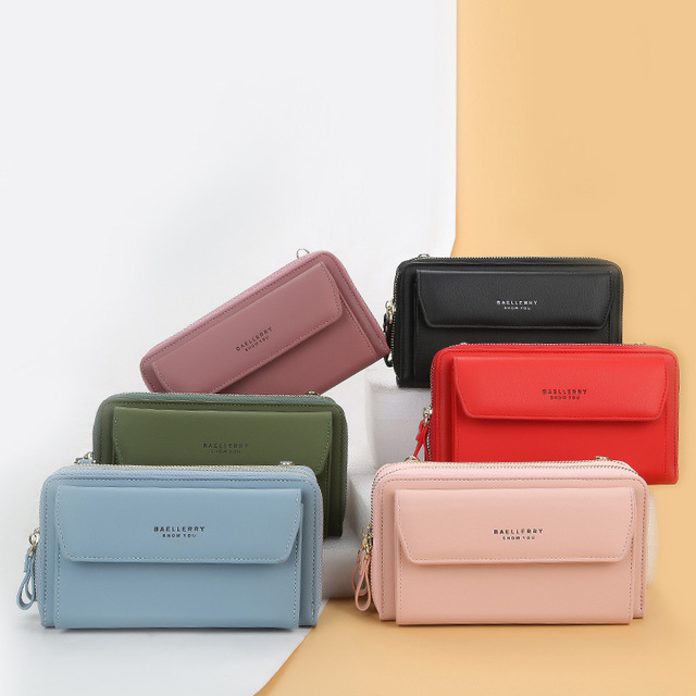 Baellerry Women Wallet Double Zipper Summer Female Shoulder Bag Top Quality Cell Phone Pocket Bags Fashion Crossbody Bags 6