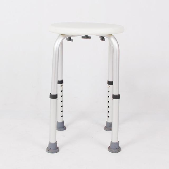 Non-slip Bath Chair w/ 6 Gears Height Adjustable 2