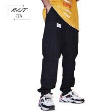 RLJT.JIN 2019 New Cargo Pants Men Streetwear Pantalones Hombre Hip Hop Jogger Pantaloni Uomo Loose Fashion Big Pocket