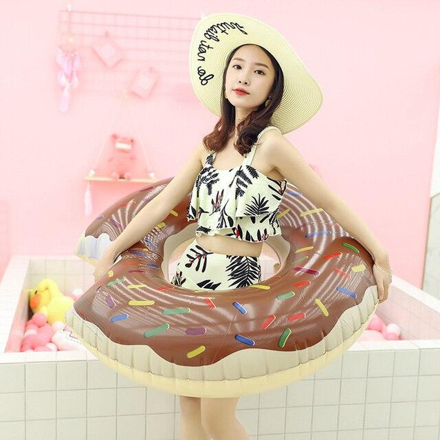 Bouée gonflable à donuts, flotteur de piscine, boule d'eau, canapé d'été, matelas à Air, anneau de natation 4