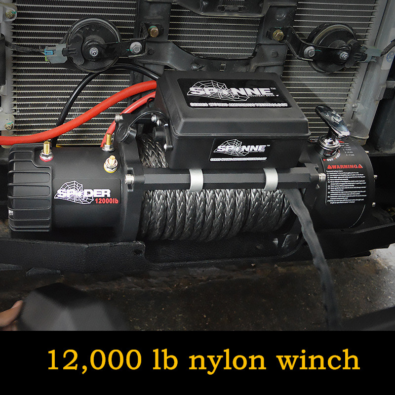 12,000 Lb Nylon Winch Spider Winch 12000 Pounds Portable Self-rescue Off-road 12V Vehicle-mounted 12000 Electric Winch