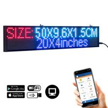 50CM Plug-n-Play P5 Led Sign WiFi Programmable Message Scrolling Board RGB Advertising Display for Business