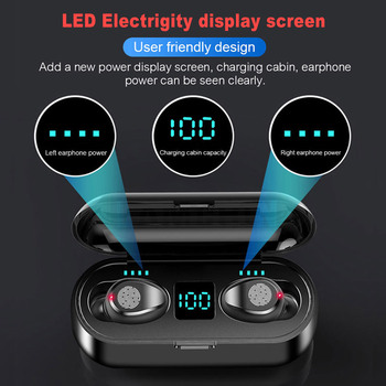 New 5.0 Bluetooth Earphone 8D Stereo Wireless Earbuds Mini Wireless Earphone Headset with  Power Bank Earphone Headphone 2