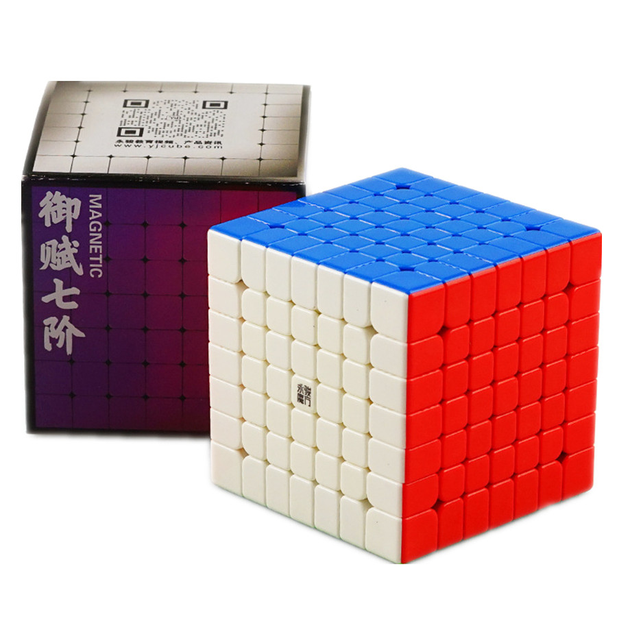Yongjun Yufu V2M 7x7x7 Magnetic Magic Cube Stickerless Professional Puzzle Speed Cubo Migico YJ 7x7 Educational Toy Gift