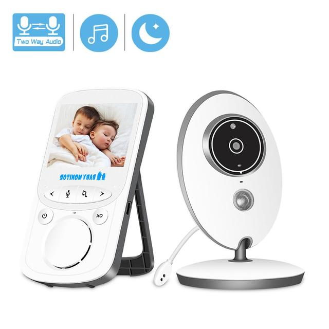 BESDER VB605 Wireless Video Baby Monitor 2,4 zoll Mini Kamera 2,4 GHz Intercom Temperatur Überwachung Nachtsicht Musik Player