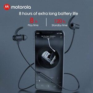 Image 3 - Motorola cou suspendu Bluetooth 5.0 Flexible écouteur magnétique sport écouteurs sans fil casque puissant basse avec 8H Playtime