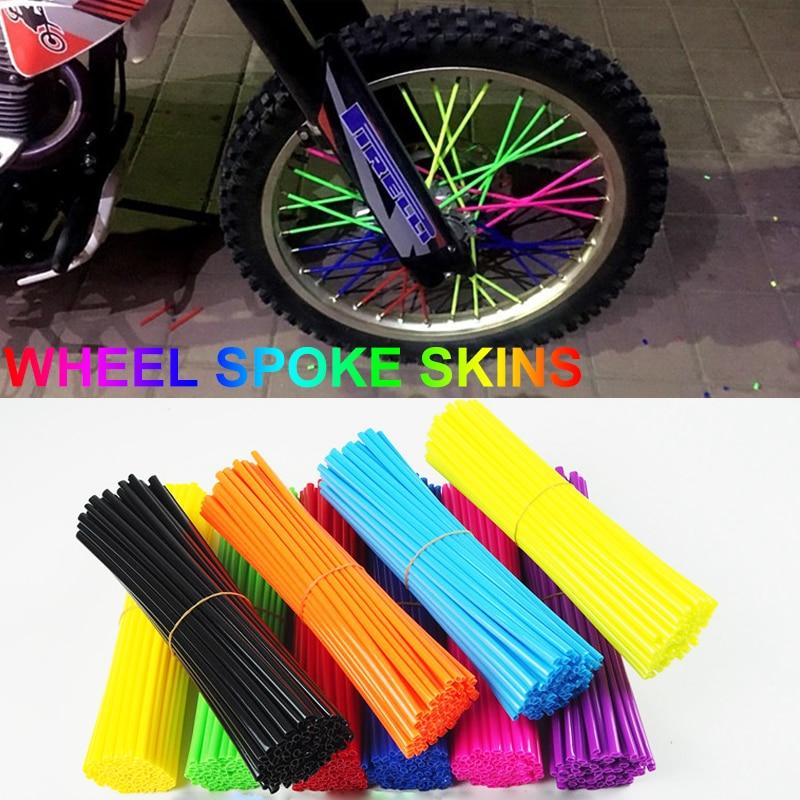 Motorcycle Spoke Cover 72 Pcs Universal Motocross Wheel Rim Spoke Protector Wheel Rim Wraps Kit