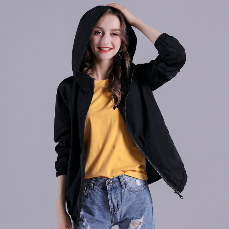 2019 New Version Spring Autumn Loose Casual and Sporty Versatile Thin Jacket Coat Overcoat
