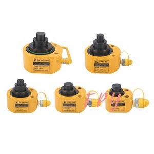 Vérin hydraulique à plusieurs sections course 24-75mm vérin hydraulique vérin de levage Ultra-mince à plusieurs sections 10T-100T