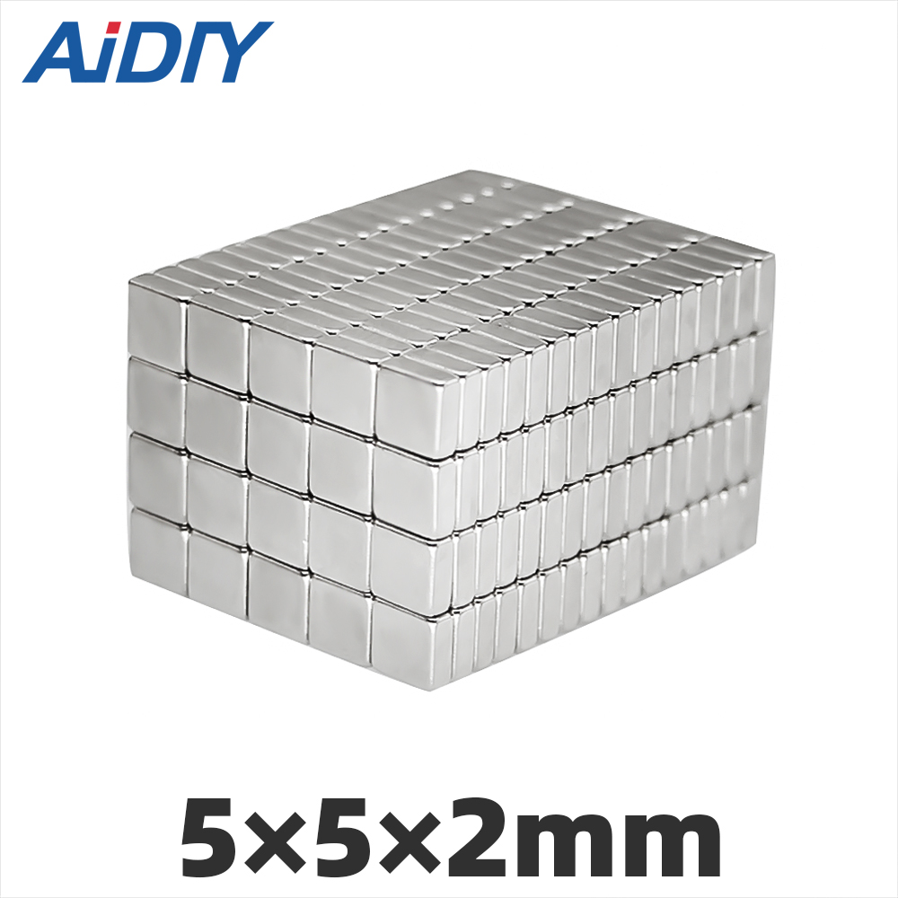 AI DIY 20/50/100pcs 5 x 2 mm N35 Block Square neodymium magnet Mini Small super strong power Rectangular magnets * 2mm