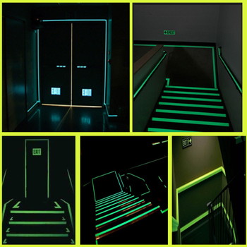 1cm X 1M Luminous Fluorescent Night Self-adhesive Glow In The Dark Sticker Tape Safety Security Home Decoration Warning Tape 4