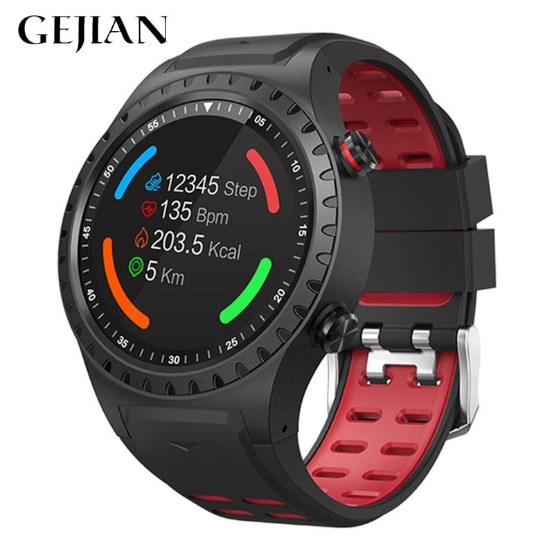 Reloj inteligente GEJIAN compatible con Bluetooth teléfono GPS brújula Smartwatch teléfono móvil hombres mujeres impermeable reloj monitor de ritmo cardíaco