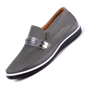Image 4 - 2019 New MenS Casual Shoes Men Summer Style Mesh Flats For Men Loafer Creepers Casual High End  Shoes Very Comfortable