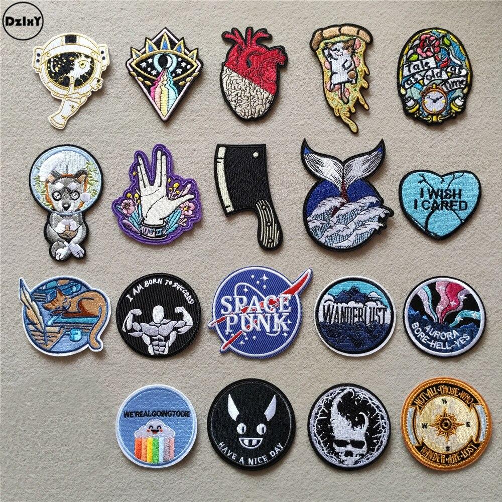 (46 стилей на выбор) нашивки для одежды с сердечками, железные нашивки в полоску для значков, круглые наклейки на одежду, Аппликации с вышивкой|Заплатки|   | АлиЭкспресс
