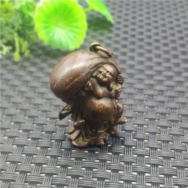 Antique Bronze Maitreya Buddha Pure Copper Cloth Bag Buddha Bronze Buddha Statue Laughing Buddha Small Copper Ornament Gift|Statues & Sculptures| |  - title=