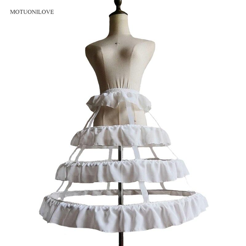 Hollow Out Underskirt Petticoat 3 Hoops 50 Cm Length Women Crinoline Slip For Short A Line Dress Jupon Femme Cancan Para Vestido