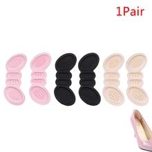 1pair New Women Insoles Soft Foam Cotton Gel Shoe Pads Foot Shoe Heel Stick Protector Anti Slip Pad
